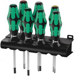 05320540001 335/350/367/7 Schroevendraaiserset Kraftform Plus Lasertip + houder, 7-dlg
